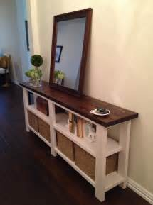 Entry Table With Storage by Rustic Chic Console Table Thelotteryhouse