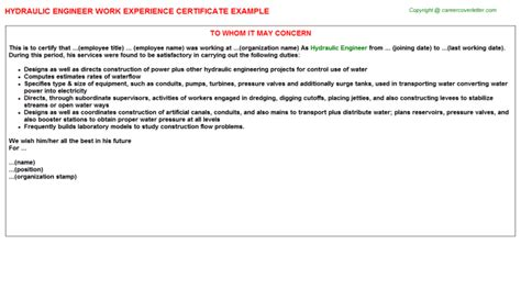 Hydraulic Design Engineer Cover Letter by Hydraulic Engineer What Does A Hydraulic Engineer Do With Pictures Hydarulics