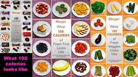 what does 100 square look like what does 100 calories look like healthy happy