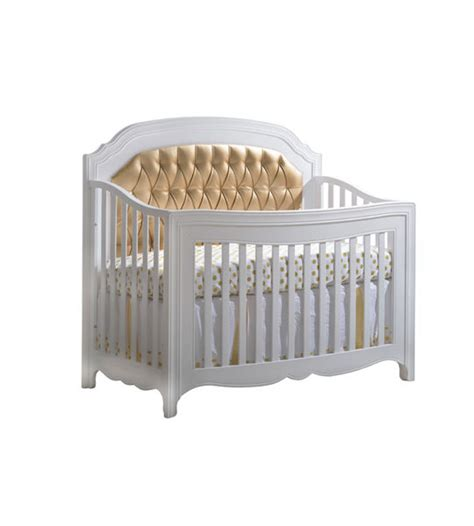 Allegra Gold Quot 5 In 1 Quot Convertible Crib With Gold Diamond Tufted Baby Crib