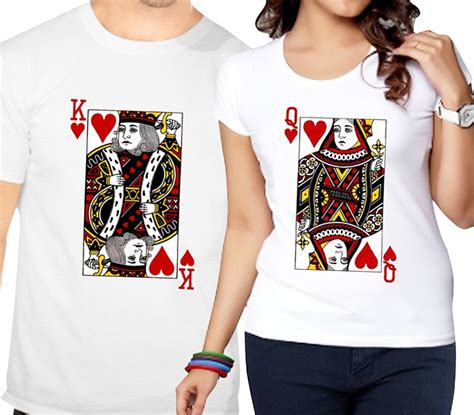 T Shirts For Couples Card Of Hearts T Shirts Giftsmate