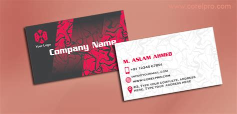 business card templates cdr format business card design cdr format images card design and