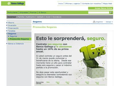 by web banco banco gallego comparativa de bancos
