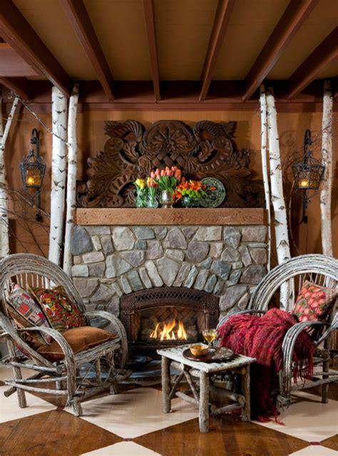 landhausmöbel für wohnzimmer dekor kamin sessel