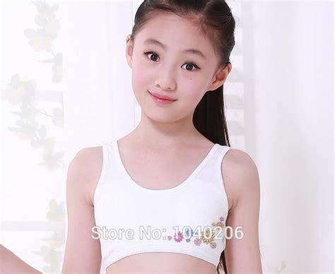 10 pcs small girls underwear cotton dot girls preteen 10pcs kids girls training bras lovely little flower