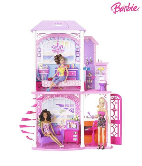 barbie glam vacation house with doll barbie glam vacation house buy barbie glam vacation house online at low price snapdeal