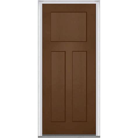 5 Panel Exterior Door Milliken Millwork 33 5 In X 81 75 In Shaker 3 Panel Painted Fiberglass Smooth Exterior Door