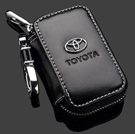 toyota black leather car key chain wallet bag online