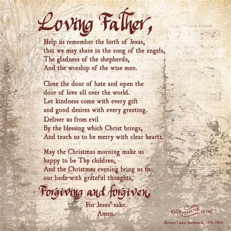 christmas prayer  thine home