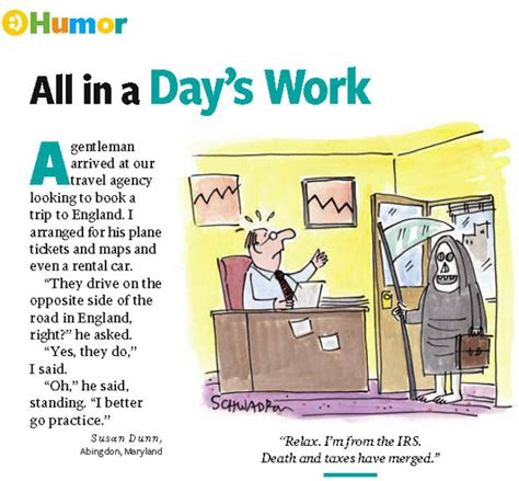 All In A Days Work by Abingdon Resident Featured In Reader S Digest Humor