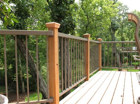 Aluminum Deck Railing Installation Doherty House Patio Railings Designs