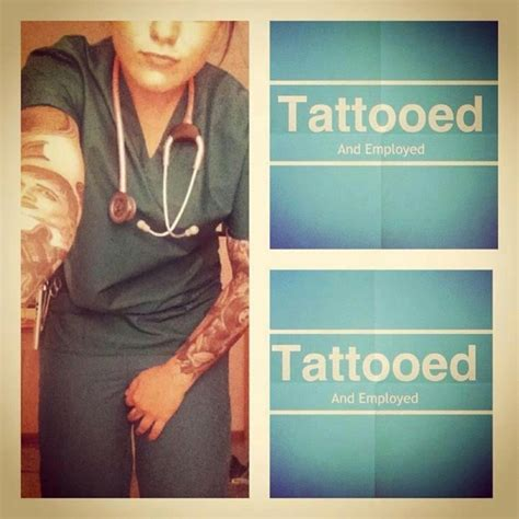 tattooed and employed 33 best images about nursing school on badge