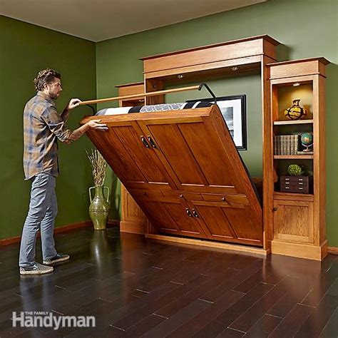 murphy bed bookshelves how to build a murphy bed bookcase family handyman