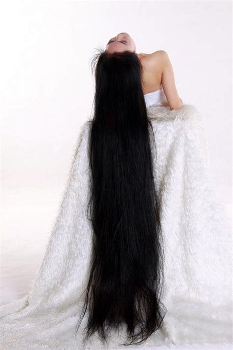 beautiful girl  floor length long hair