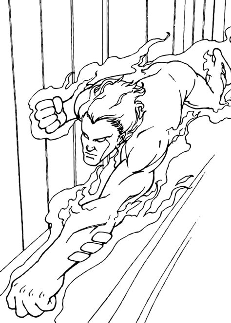 human torch coloring pages human torch