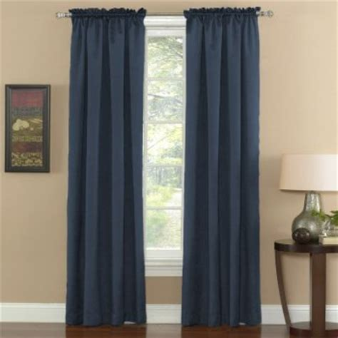 sears thermal curtains thermal weave curtain blue more style less energy at