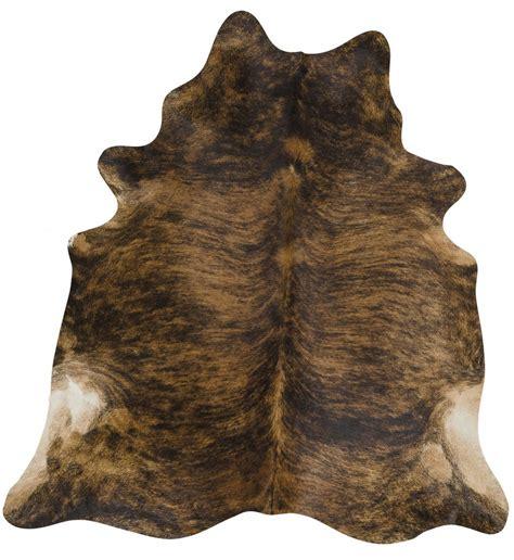 Cowhide Floor Rugs - cow hide brindle floor rug the gilded pear australia