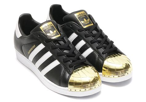 Adidas Superstar Foundation Pack Gold Logo White Black adidas superstar gold toe silver toe release info sneakernews