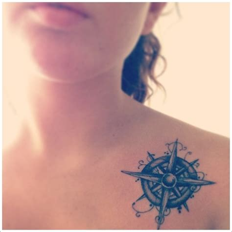 girly chest tattoos designs get awesome compass designs 25
