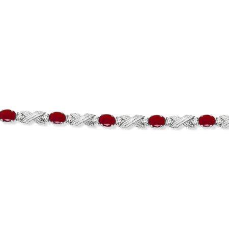 Ruby 10 65ct ruby xoxo link bracelet in 14k white gold 6
