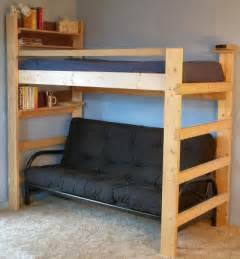 Study Bunk Bed Frame With Futon Chair Best 25 Futon Bunk Bed Ideas On Bunk Beds Layout And Loft Bed Decorating