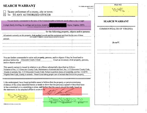 Search Warrant Gloucester Va Links And News 4 29 12 5 6 12