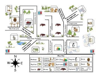 Zoo Map Pack by First Grade Fanatics   Teachers Pay Teachers