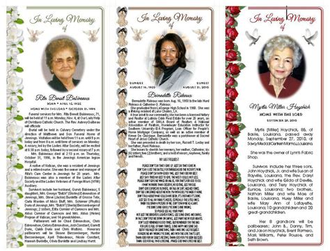 Obituary Card Template by Obituary Cards Sle