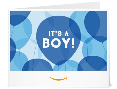 folding amazon printable gift card amazon com amazon gift card print it s a boy balloons