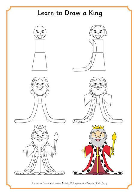 doodle to learn learn to draw a king рисование learning