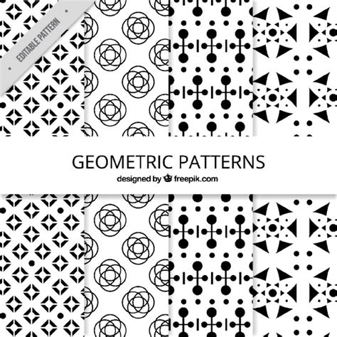 black and white geometric pattern vector free black and white collection of geometric patterns vector