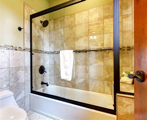 bathtub in shower enclosure glass tub and shower enclosures