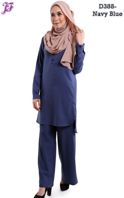 Blouse On Wardah Wardah Suit Blouse And Pant D388 Navyblue