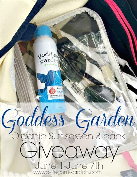 Garden Giveaway - goddess garden sunscreen giveaway a life from scratch