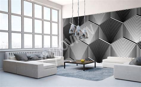 Tapisserie ée Noir Et Blanc by Papiers Peints Noir Et Blanc Mur Aux Dimensions Myloview Fr