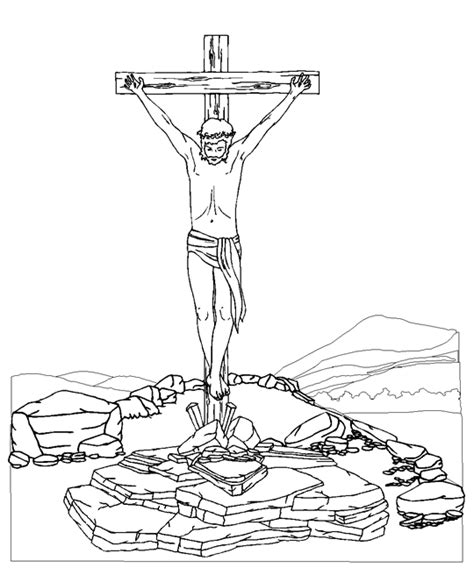 the crucifixion coloring page