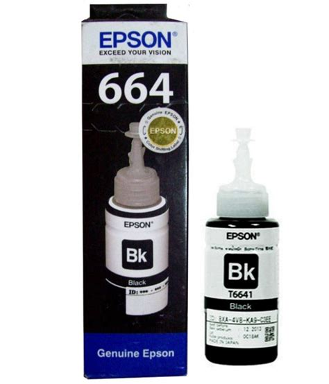 epson ink t6641 black ink 70 ml for l100 l110 l200 l210
