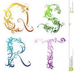 dekoration buchstaben decorative letter font type stock vector image 33844549