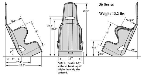 car seat dimensions order kirkey 36 series intermediate racing seats 18 inch wide