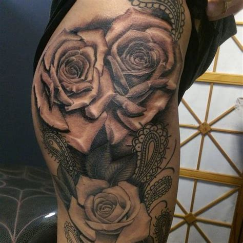 3d tattoo thigh 40 hot rose thigh tattoo design ideas