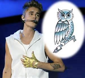 justin bieber owl tattooforaweek temporary tattoos