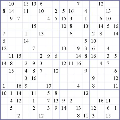 16x16 sudoku printable search results for sudoku 16 215 16 printable calendar 2015