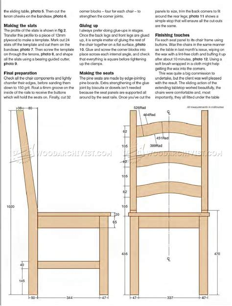 Dining Room Chair Plans Free Pine Dining Chair Plans Woodarchivist