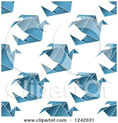Origami Dove Pattern - royalty free rf dove clipart illustrations vector