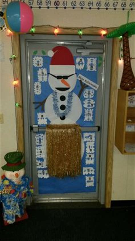 tropical christmas elementary bulletin boards doors walls holiday door decorations