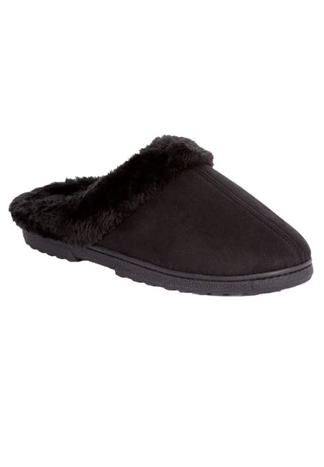 comfortview slippers andy fur clog slipper by comfortview 174 plus size shoes