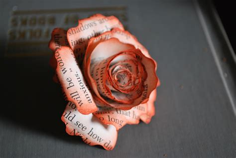How To Make Paper Flowers Out Of Book Pages - 301 moved permanently