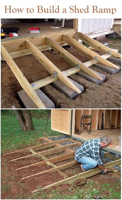 build  shed ramp    storage shed