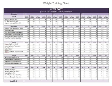 10 best images of free printable workout charts exercises printable dumbbell workout chart workouts that i ll