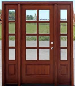 Exterior Door Sidelights 8 Lite Exterior Door And Sidelights With Clear Beveled Glass